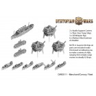 Dystopian Wars Merchant Navy Convoy Fleet
