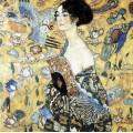 La dame à l'éventail - Klimt 80 pièces 0
