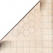 Battlemat reversible (carré - hexagone) - 60 cm x 66 cm