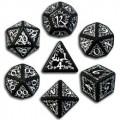 Set de Dés Elfiques Noirs et Blanc 0