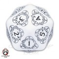 D20 white & Black Card Game Level Counter 0