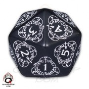 D20 Black & white Card Game Level Counter