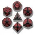 Set de Dés Dragon Noir et Rouge 1
