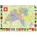 Carte de suisse 50 pièces . 0