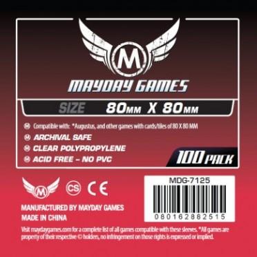 Card Game Sleeves - Medium Square 80x80mm - 100p
