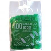 100 Pions 15 mm marquage Loto Vert