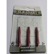 3 Embouts courts alu couleur rouge
