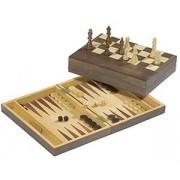 Echecs - Backgammon noyer