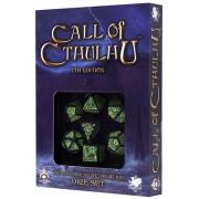 Set de 7 Dés Call of Cthulhu 7th Edition Noir / Vert