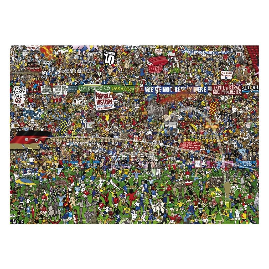 puzzle football history de alex benett 3000 pièces boutique