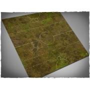 Terrain Mat Cloth - Fantasy Medieval Football Mat - Muddy Fields - 90x90