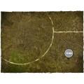 Terrain Mat Cloth - Fantasy Medieval Football Mat - Muddy Fields - 90x90 1