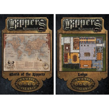Savage Worlds : Rippers Resurrected - Map 3 World Of Rippers/Lodge