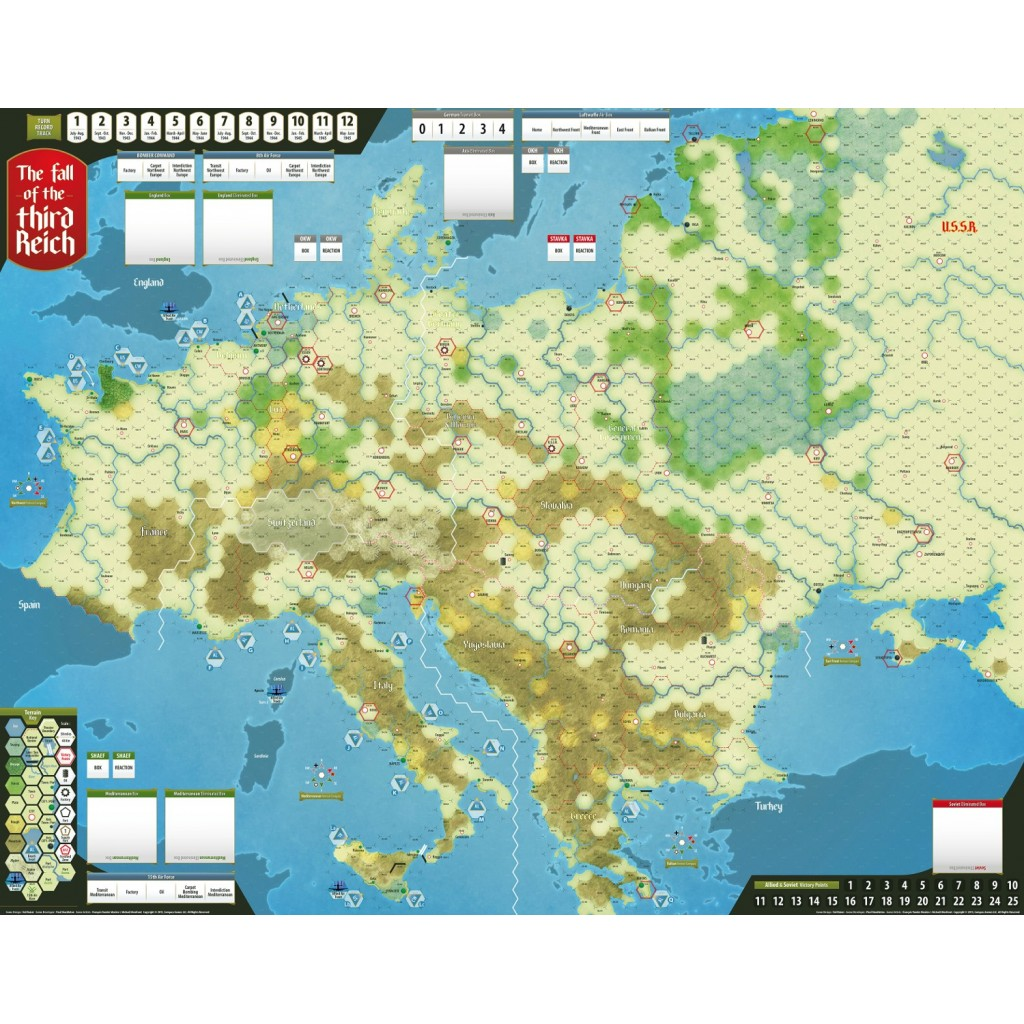 Buy The Fall Of The Third Reich Board Game Compass Games