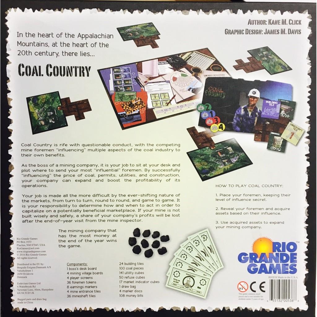 Buy Coal Country - Board Game - Rio grande