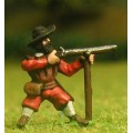 Renaissance 1520-1580AD: Musketeer with rest in assorted hats, firing 0