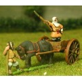 Samurai: Warrior Monk General standing in cart with horse and attendant 0