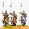 Moghul Indian: Heavy Cavalry with Bow, Shield & upright Spear on Barded Horse 0