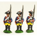 Seven Years War Prussian: Musketeer at attention, variants. 0