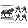 Mounted Men-at-Arms with Lances upright 0