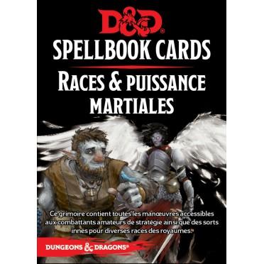Dungeons & Dragons 5e Éd. : Spellbook Cards - Races & Puissances Martiale
