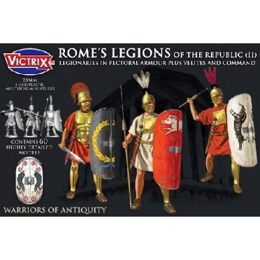 Rome's Legions of the Republic (II) in pectoral armour plus Velites and Command