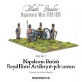 Napoleonic British Royal Horse Artillery 6-pdr cannon 5