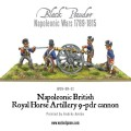 Napoleonic British Royal Horse Artillery 9-pdr cannon 2