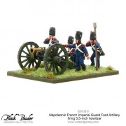 Napoleonic French Imperial Guard Foot Artillery firing howtizer