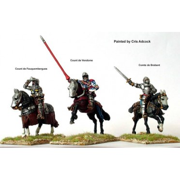 French mounted command at Agincourt
