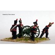 Foot Artillery firing 6 pounder