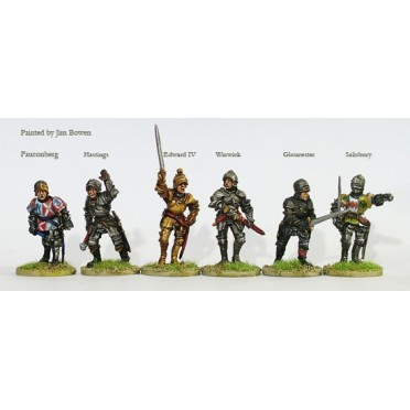 Yorkist command and Warwick on foot