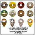 Islamic shield design to fit Gripping Beast plastic Arab miniatures 0