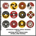 Arthurian Nobles Shield Designs to fit Gripping Beast Miniatures 0