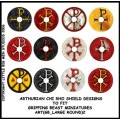 Arthurian Shield Designs to fit Gripping Beast Miniatures 0