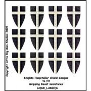 Knights Hospitaller Shield Designs (Gripping Beast)
