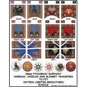 Ptolemaix War Elephant shields, howdah and blanket transfers