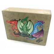 """Storage box """"3 Dragons"""" compatible with CCG/LCG Card Games (2018 edition)"""