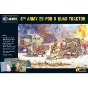 Bolt Action  - British - 8th Army 25pdr, Quad and limber