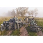 SdKfz 2 Kettenkrad with Trailer if.8 & Goliath with Crew