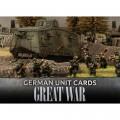 Flames Of War - Great War - German Unit Cards 0