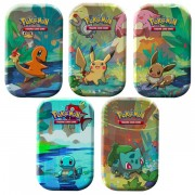 Boite de Pokemon - Lot de 5 Kanto Friends Mini Tins