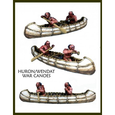 Huron / Wendat War Party Canoes