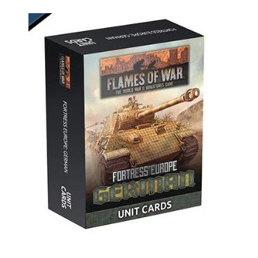 Flames of War - Fortress Europe German Unit cards