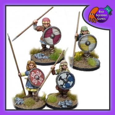 Shieldmaiden Warriors with Spears