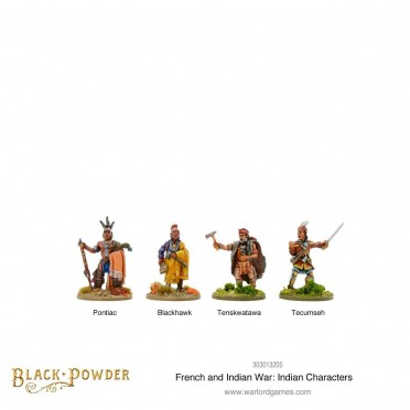 French Indian War - Indian Characters