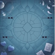 Playmat: Four Souls Cathedral Four Player: Binding of Isaac