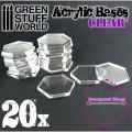Acrylic Bases - Hexagonal 30 mm Clear 0