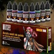 Acrylic Wash Ink Paint Set