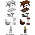 WizKids Deep Cuts Unpainted Miniatures: Workbench & Tools 0
